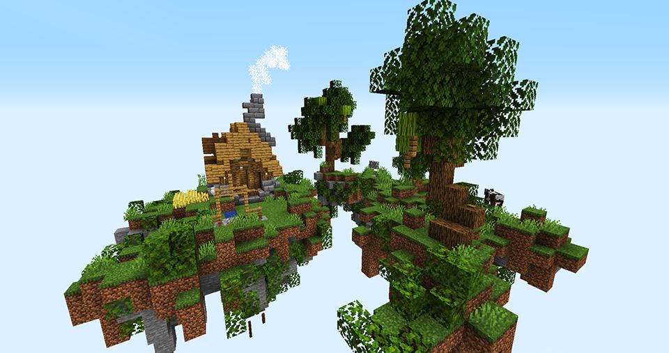 SkyBlock Oak House Island