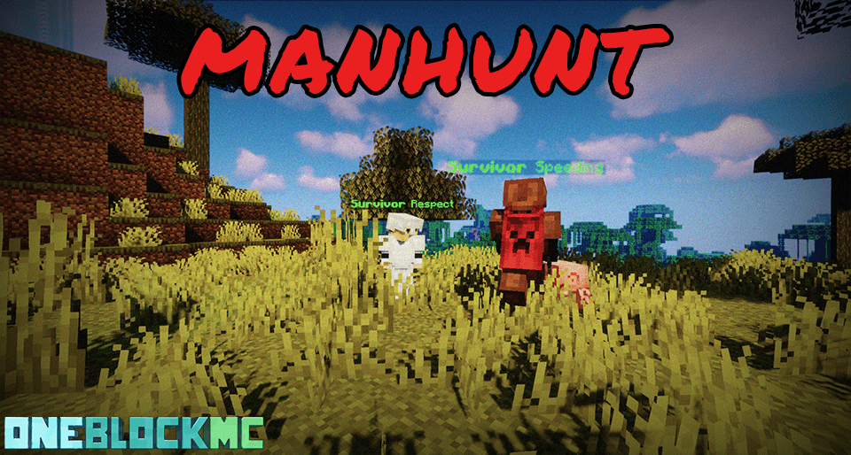 Minecraft manhunt server gameplay