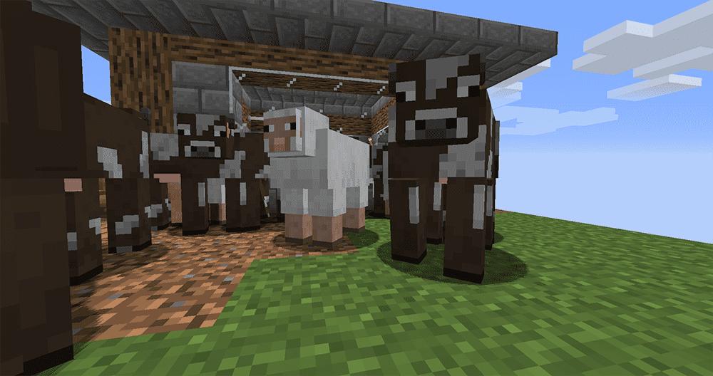 Minecraft Cow Island