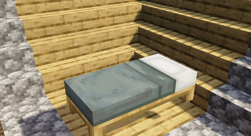 Grey Minecraft Bed