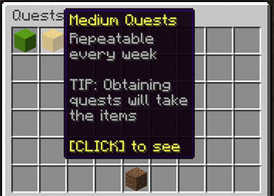 Medium Minecraft Quests Menu