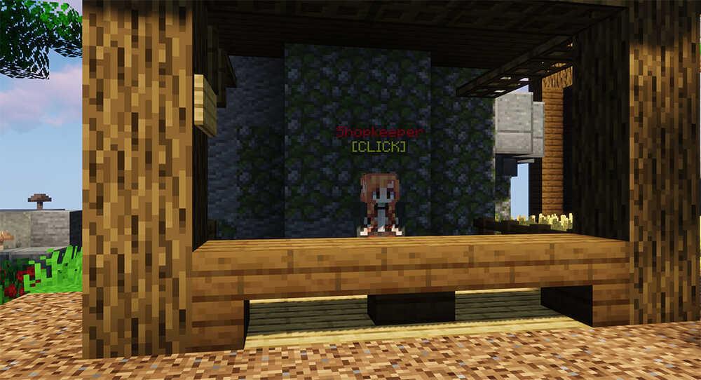Minecraft BedWars Server Shopkeeper