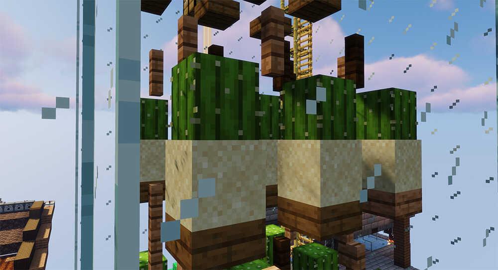 Minecraft SkyBlock Cactus Farm