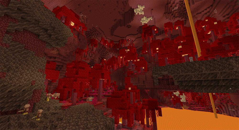 Minecraft Nether Crimson Forest